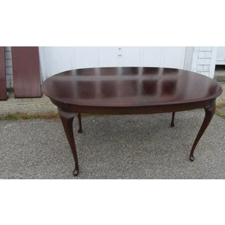 1980s Queen Anne Solid Mahogany Dining Set - 7 Pieces Preview