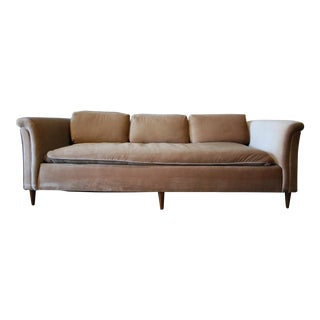 Vintage Mid-Century Velvet Sofa