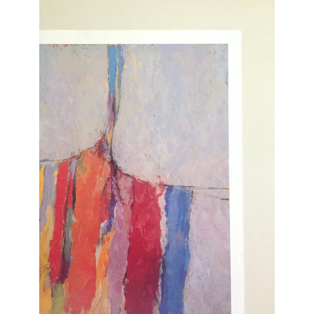 Arthur Osver Vintage 1985 Abstract Expressionist Lithograph Print St. Louis Arts Festival Exhibition Poster For Sale In Kansas City - Image 6 of 13