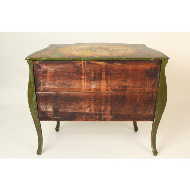 Italian Louis XV Style Painted Commode For Sale - Image 4 of 12