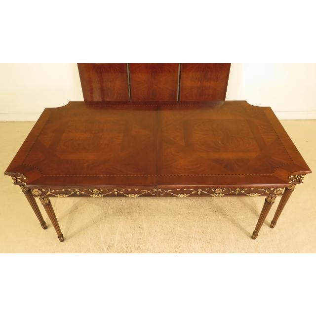 Hollywood Regency EJ Victor Regency Walnut 8-Leg Dining Room Table For Sale - Image 3 of 11