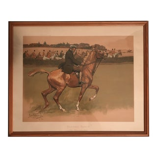 Framed English Equestrian Print For Sale