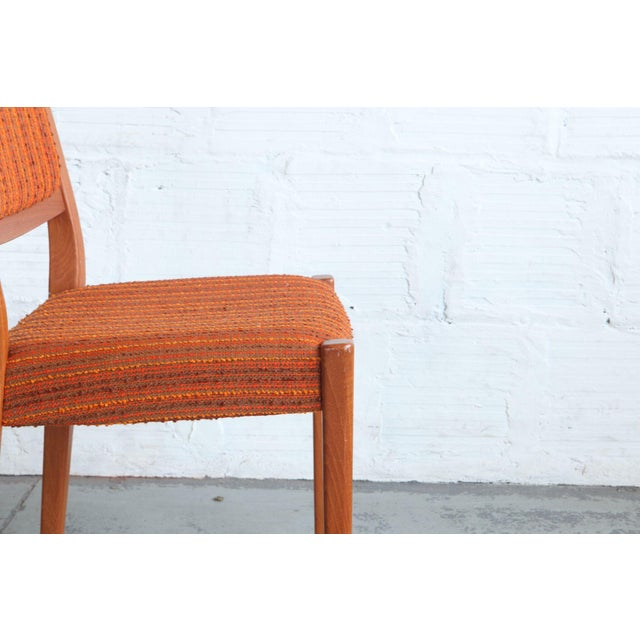 Mid-Century Modern 1960s Mid-Century Modern Teak Dining Chairs - Set of 8 For Sale - Image 3 of 6
