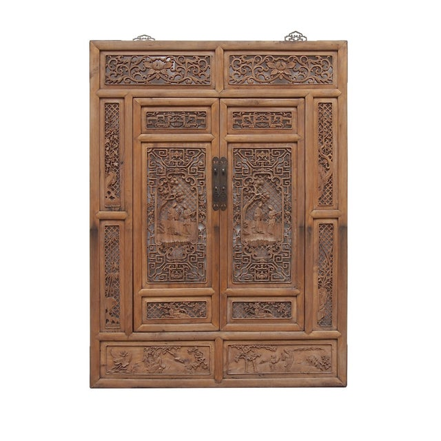 Vintage Carved Wood Asian Wall Panel/Screen - Image 2 of 6