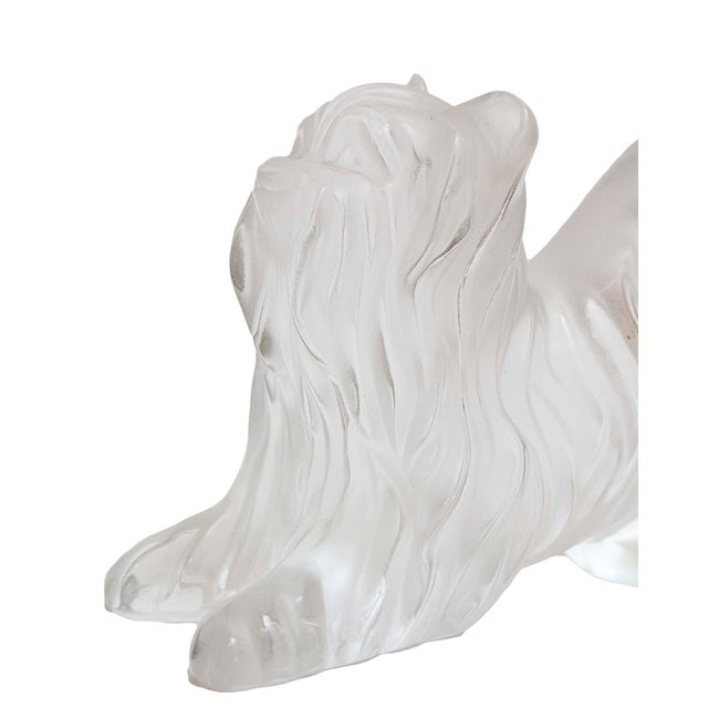Art Deco Lalique Crystal Yorkshire Terrier For Sale - Image 3 of 4