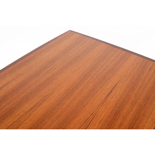 Mid-Century Danish Modern Square Teak Coffee Table - Image 8 of 8