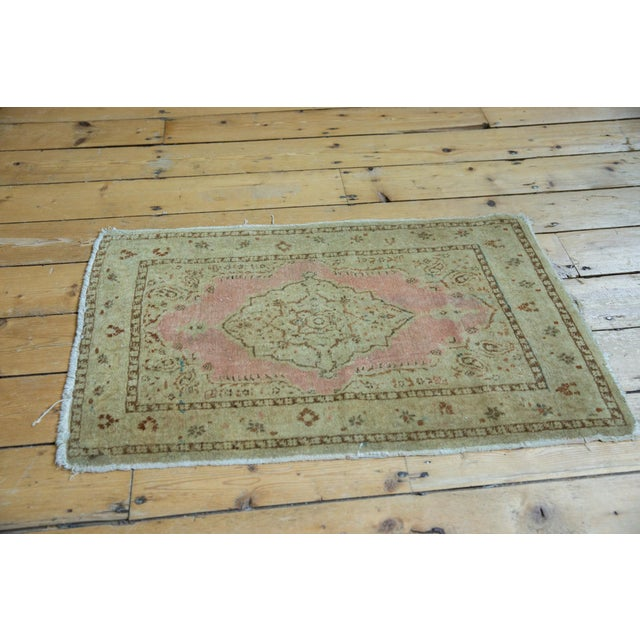 "Old New House Antique Distressed Jalili Tabriz Rug Mat - 1'10"" X 2'11"" For Sale - Image 4 of 9"