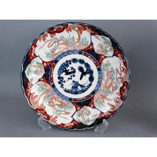 Japanese Porcelain Imari Chargers - A Pair - Image 4 of 9