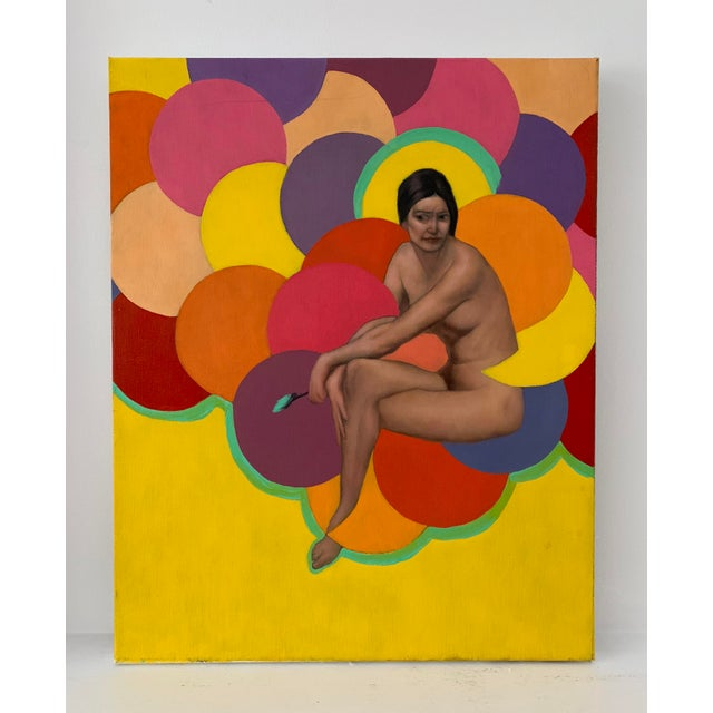 A colorful portrait of a naked woman. The piece was made in the 1990s. Reasonable offer will be considered. Local Pickups...