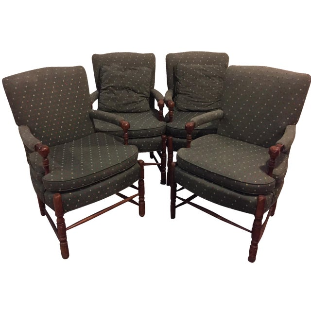 Mid-Century French Club Armchairs - Set of 4 - Image 1 of 10