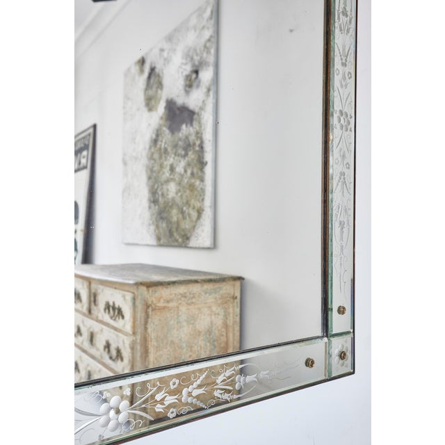 Large Venetian mirror in original condition. Italian circa 1930s