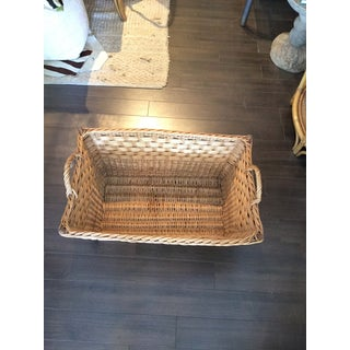 French Woven Wicker Basket Preview
