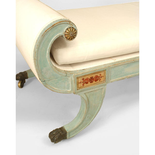 Neoclassical Italian Neoclassic Blue Painted Récamier For Sale - Image 3 of 4