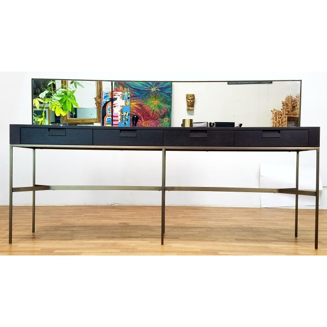 Glass B&B Italia Modern Console For Sale - Image 7 of 11