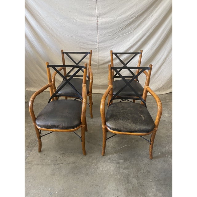 Vintage Thonet Dining Chairs - Set of 4 For Sale - Image 11 of 12