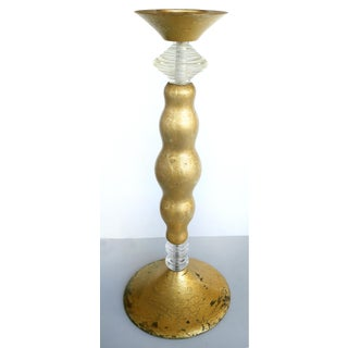 Overscale Giltwood & Lucite Candle Holders- a Pair Preview
