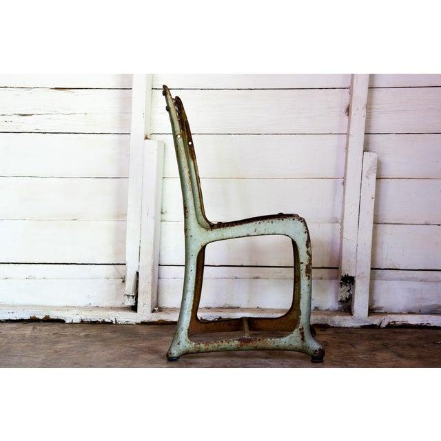 1950s Vintage Metal Envoy #13 Vintage Americana School Chair For Sale - Image 4 of 9