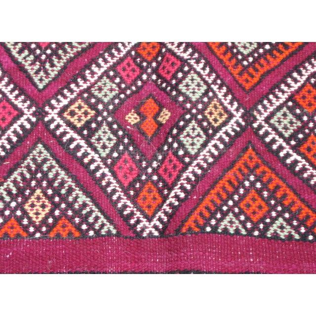 Moroccan Magenta Kilim Rug - 5′3″ × 10′1″ - Image 2 of 5