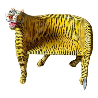 1980s Vintage Tiger Tub Chair For Sale