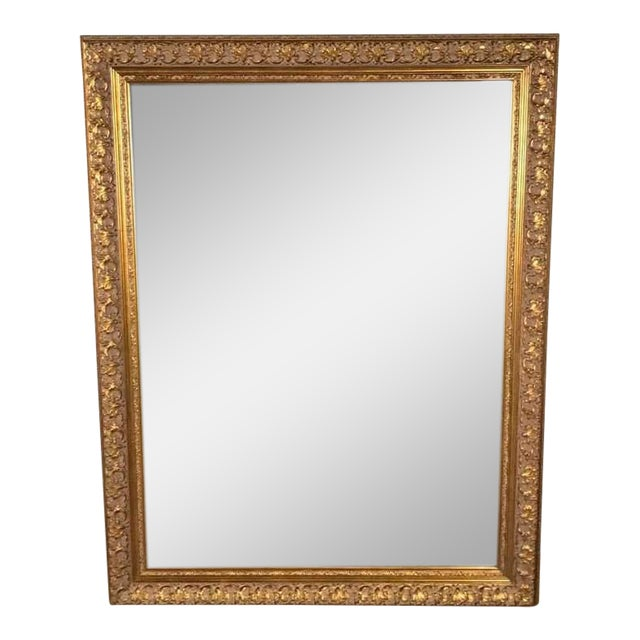 Z Gallery Large Gold Framed Mirror | Chairish