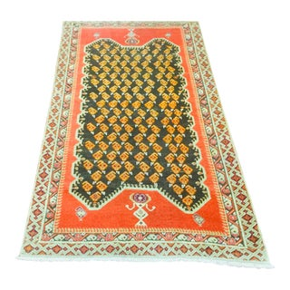 "1920's Vintage Anatolian Rug-3'2'x5'7"" For Sale"