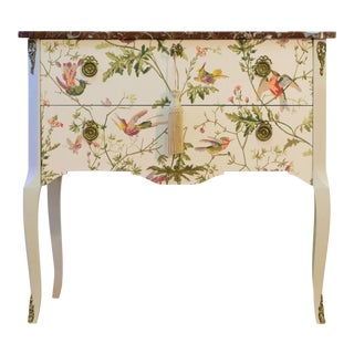 Hummingbird Gustavian Louis XV Style Chests For Sale