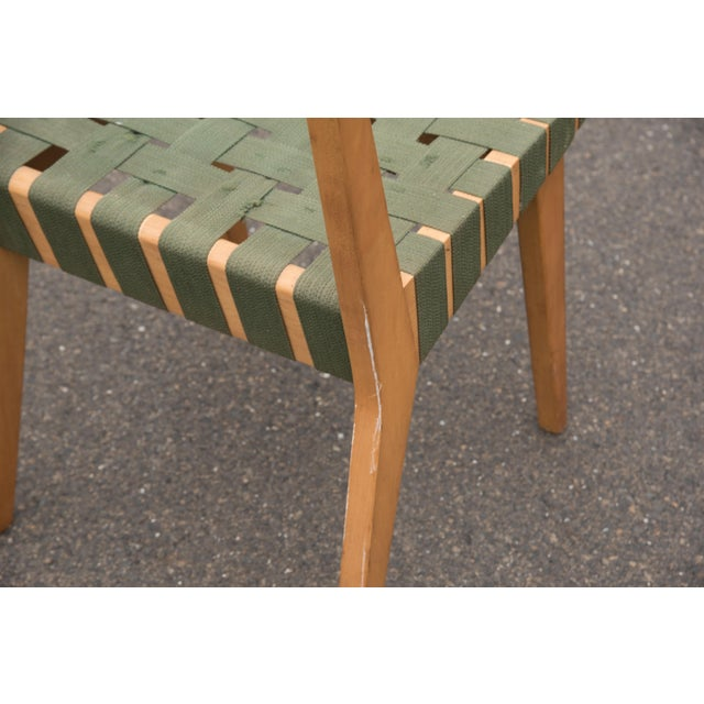 Army Green 1940s Mid-Century Modern Jens Risom for Knoll Side Chair For Sale - Image 8 of 10