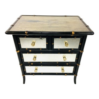 Hollywood Regency Mirrored Chest of Drawers For Sale