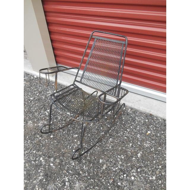 Terrific 1960S Antique Wrought Iron Wire Childrens Rocking Chair Machost Co Dining Chair Design Ideas Machostcouk