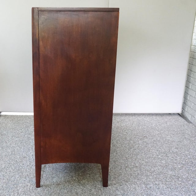 Mid Century Modern Broyhill Emphasis Walnut High Chest of Drawers For Sale In Pittsburgh - Image 6 of 11
