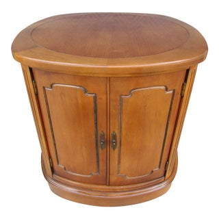 Drum Style End Table or Nightstand