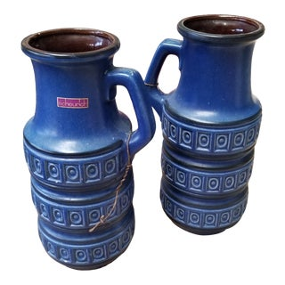 Scheurich Keramik Jug Vases - a Pair For Sale