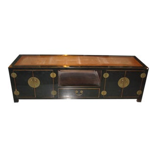 Chinese Elm Wood Sideboard For Sale