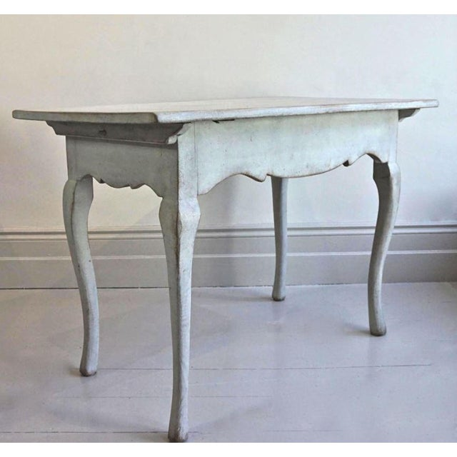 Rococo 18th C Swedish Rococo Side Table For Sale - Image 3 of 4