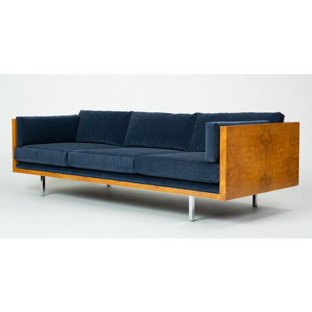 Mid-Century Modern Milo Baughman Burl Wood Case Sofa for Thayer Coggin For Sale - Image 3 of 13