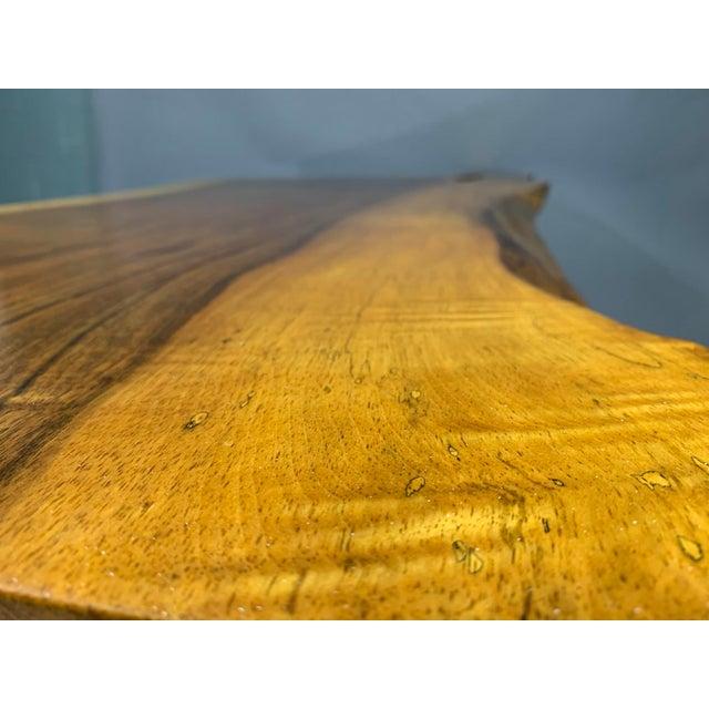 Wood George Nakashima Large Conoid Writing Desk For Sale - Image 7 of 13