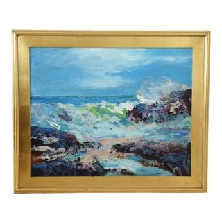 "California Santa Barbara Seascape Painting by Juan ""Pepe"" Guzman For Sale"