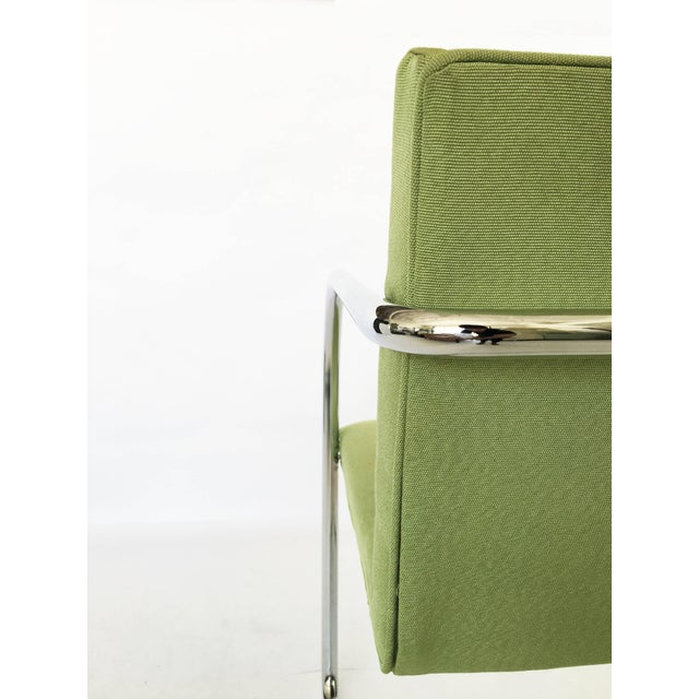 Chrome Pair of Brno Chairs in Green For Sale - Image 7 of 9