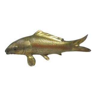 VIntage Metal Koi Fish Figure For Sale