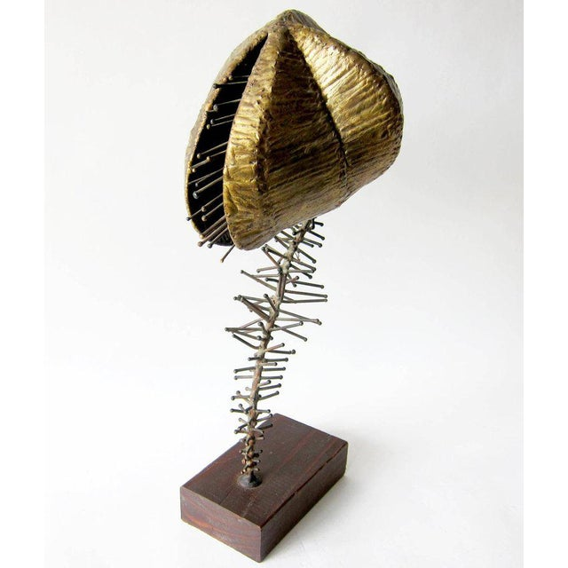 Metal 1960s Brockmann Bronze Venus Fly Trap Sculpture For Sale - Image 7 of 7