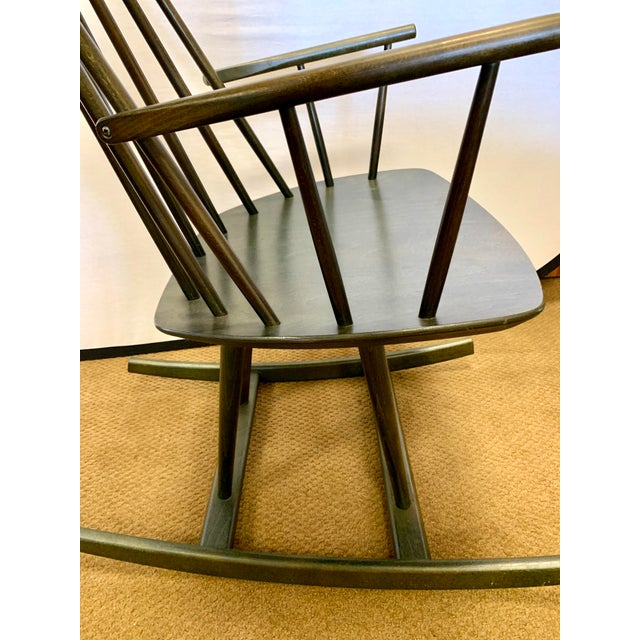 Danish Mid Century Mobler Rocker Rocking Chair For Sale In New York - Image 6 of 9