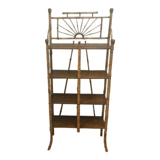 Antique Bamboo Etagere For Sale