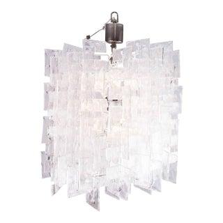 Mazzega Carlo Nason interlocking large murano chandelier For Sale