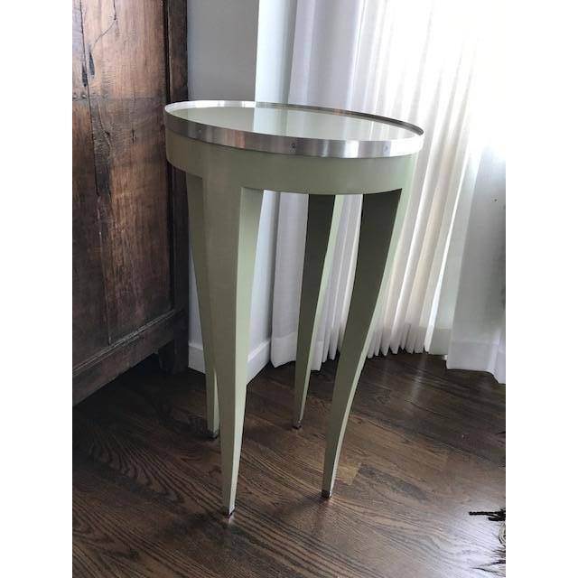 Donghia Green Side Table For Sale - Image 10 of 10