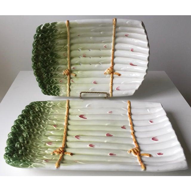 Italian Faience Asparagus Dish & Platter For Sale - Image 12 of 13