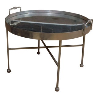 Modern Round Symi Tray Table For Sale