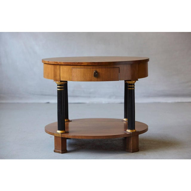Empire Empire Style Walnut Side Table by Baker Furniture For Sale - Image 3 of 11
