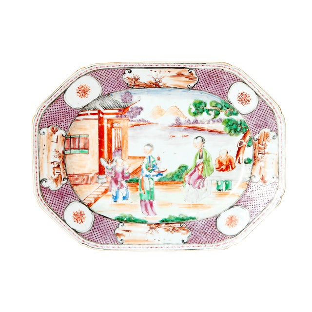 Chinese Export / Manderin Palette Platter For Sale
