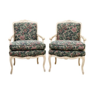 French Style Armchairs by Sam Moore Furniture - a Pair For Sale