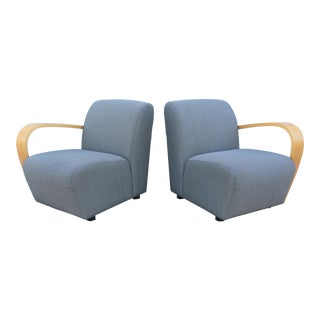 Jack Cartwright Modular Riley Lounge Chairs - a Pair